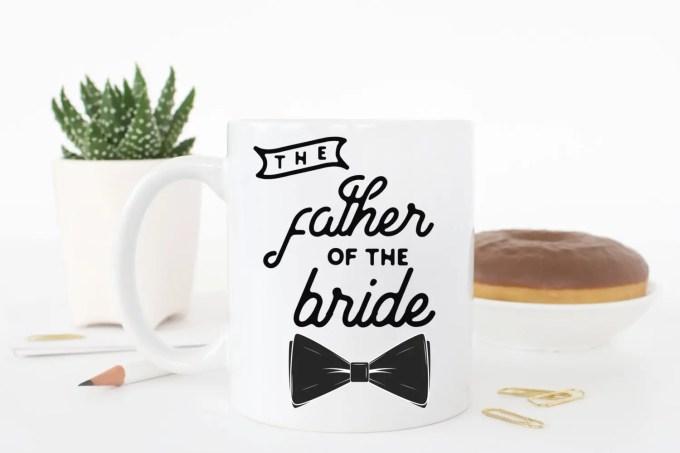 Wedding Mug Set for Mother / Father of the Bride
