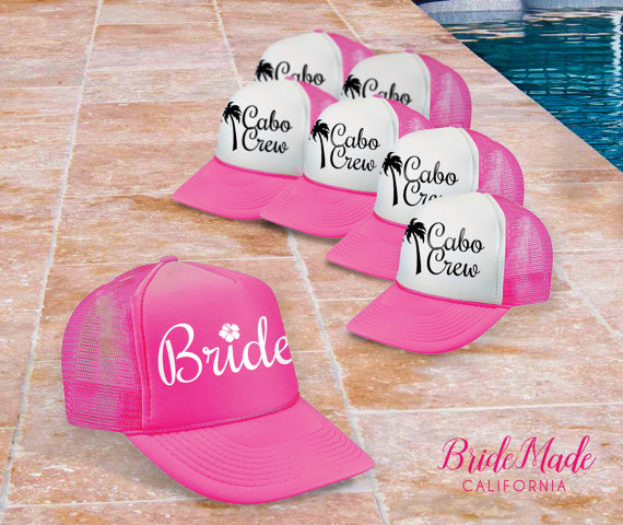 Palm Tree Bachelorette Party Hats by Bride Made California | via Palm Tree Bachelorette Party Ideas http://bit.ly/2db3WOL