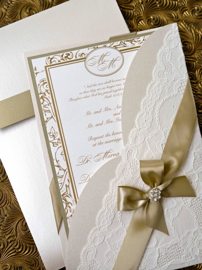 Lace Invitations on Etsy Are Totally Amazing | Emmaline Bride