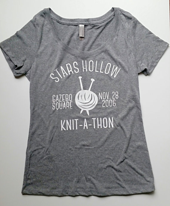 Knit a Thon Gilmore Girls T Shirt via 50+ Best Gilmore Girls Gift Ideas http://emmalinebride.com/gifts/50-best-gilmore-girls-gift-ideas/