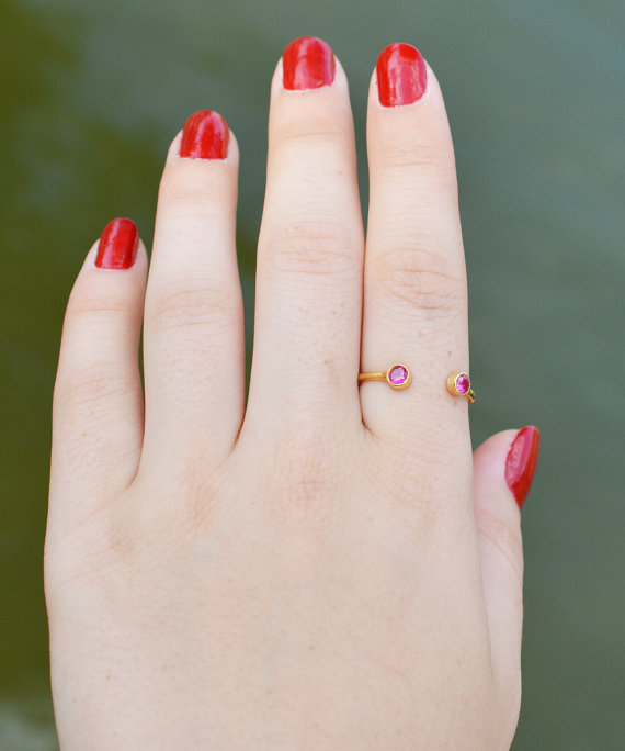 Dual Birthstone Ring — Handmade-a-Day