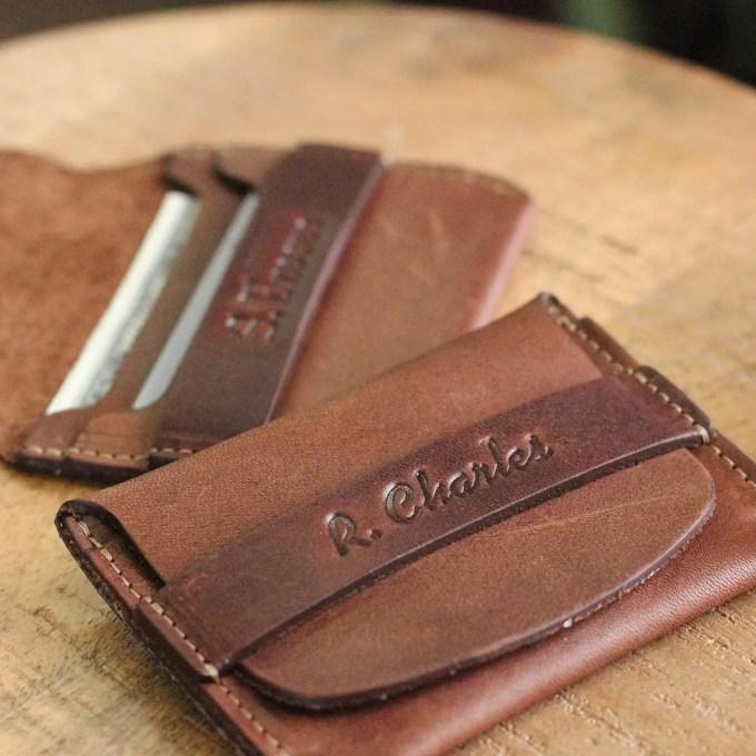 leather flip wallet for groomsmen