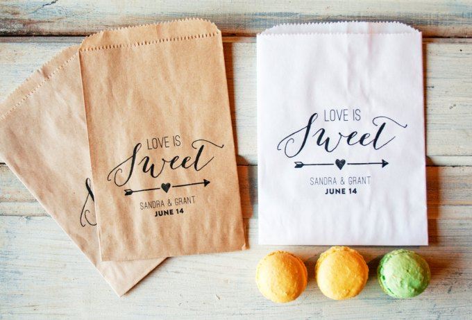 favor bags | via Heart and Arrow Wedding Ideas: http://emmalinebride.com/themes/heart-and-arrow-wedding-ideas