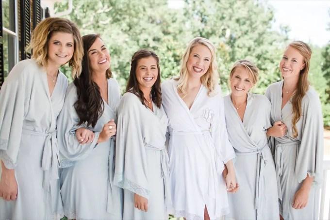 Monogrammed Bridal Robe | http://emmalinebride.com/2017-giveaway/monogrammed-bridal-robe/