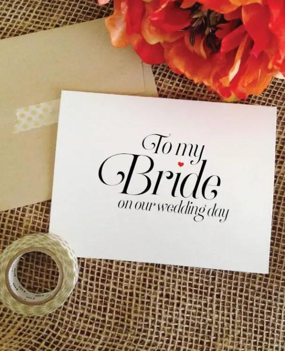 to my bride
