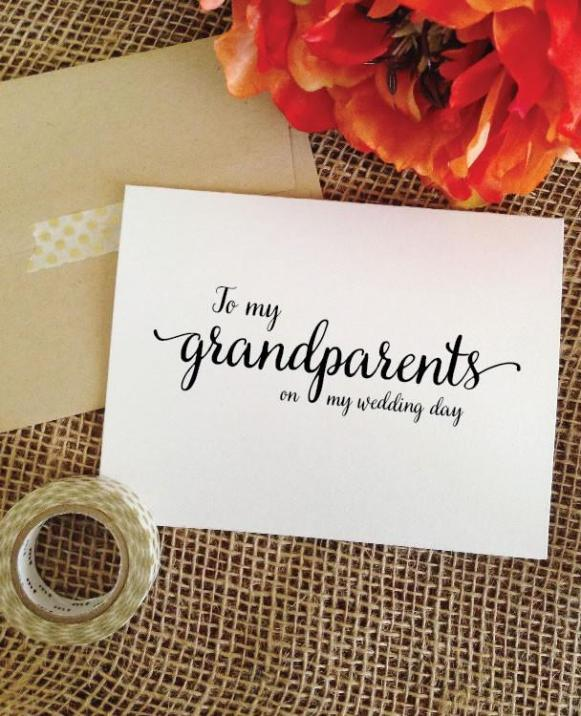 to my grandparents