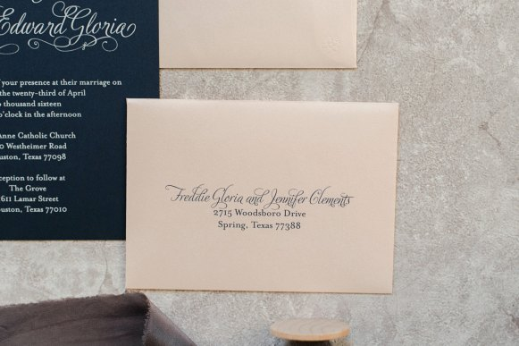 vintage blush and navy invitations 3