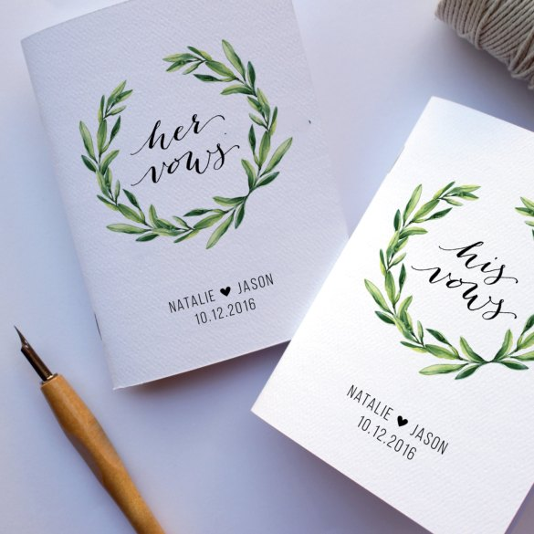 vow books for weddings | http://etsy.me/2kbPdox