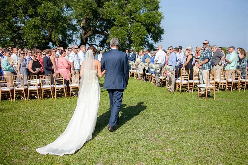 Wilmington NC Outdoor Wedding:  Lauren + Lars - photo by Eric Boneske   http://emmalinebride.com/real-weddings/wilmington-nc-outdoor-wedding/