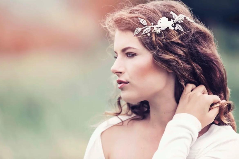Bridal hair vines for weddings | by Gadegaard Design | photo by Tina Liv | http://emmalinebride.com/bride/bridal-hair-vines-weddings/