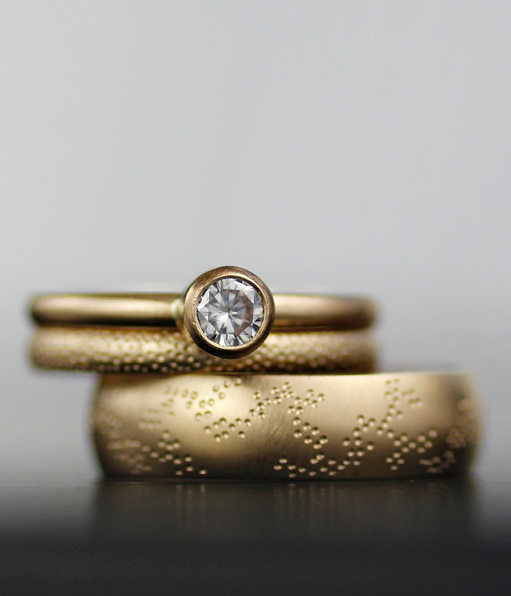 28 Unique Matching Wedding Bands His Hers Styles Couples Rings