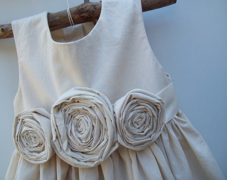 rustic flower girl dresses country