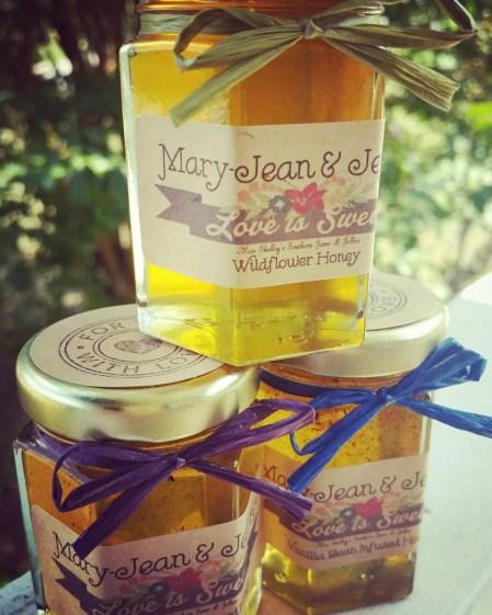 wildflower honey favors