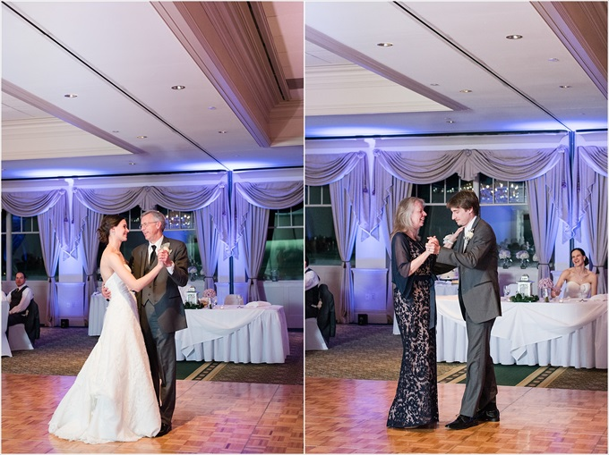 bride and father dance along with groom and mother at this Sedgefield Country Club wedding| Greensboro, North Carolina winter wedding photographed by Michelle Robinson Photography - http://emmalinebride.com/real-weddings/sedgefield-country-club-wedding/