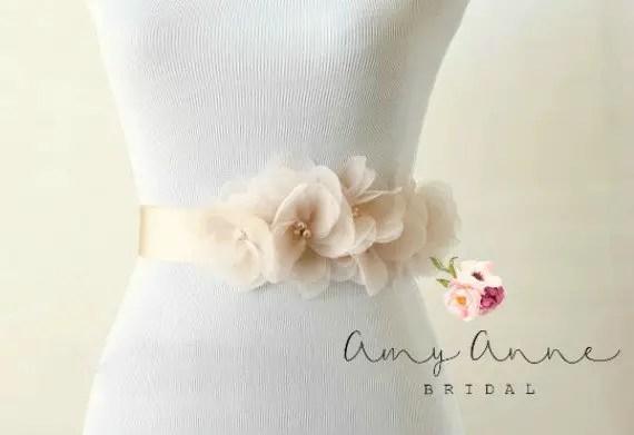 How to Tie a Wedding Dress Sash   Sash by Amy Anne Bridal   via http://emmalinebride.com/bride/how-to-tie-wedding-dress-sash/