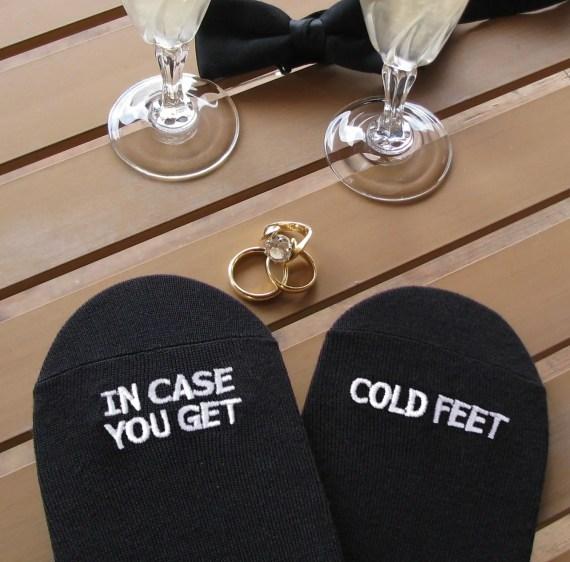 cold feet socks for the groom