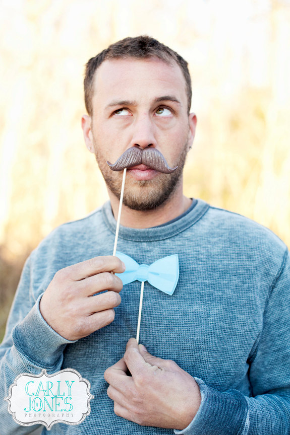 mustache and bowtie