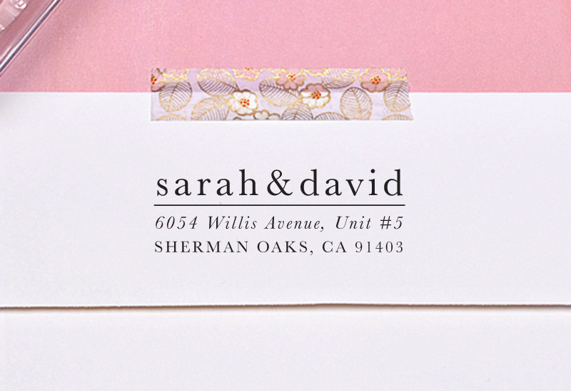 Do You Need Return Address on Save the Dates? | Ask Emmaline | http://emmalinebride.com/invites/return-address-on-save-the-dates/ | stamp by Letter2Love