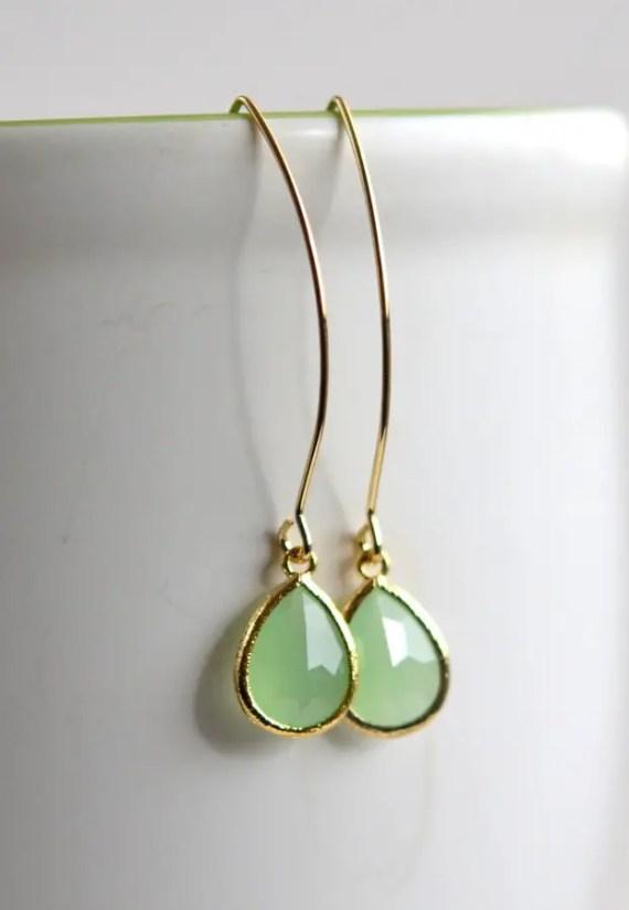 seafoam drop earrings