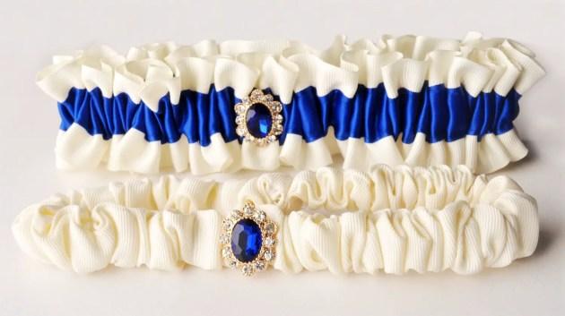 something blue wedding garters