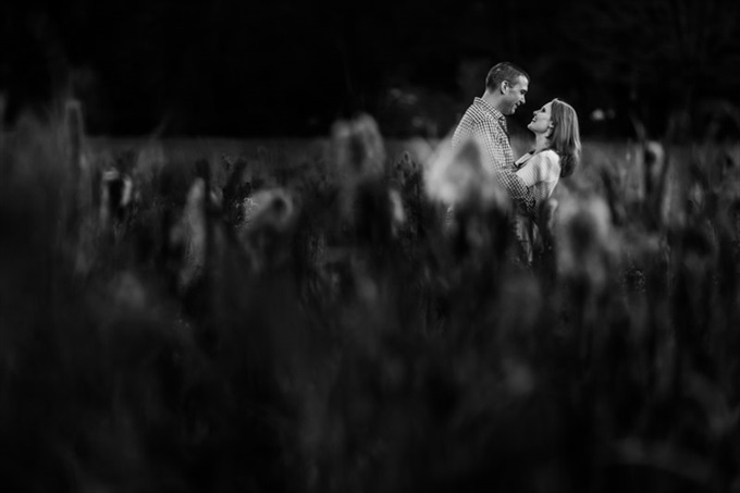 black and white fall engagement session photo| engagement photography by Butler Photography LLC.| Love Fall Weddings? See this Somers, CT Engagement Session - http://emmalinebride.com/real-weddings/love-the-fall-weddings-see-this-somers-ct-engagement-session/