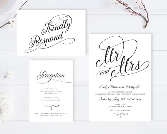Cheap wedding invitations with rsvp under 2 or less emmaline bride cheap wedding invitations with rsvp card stopboris Gallery