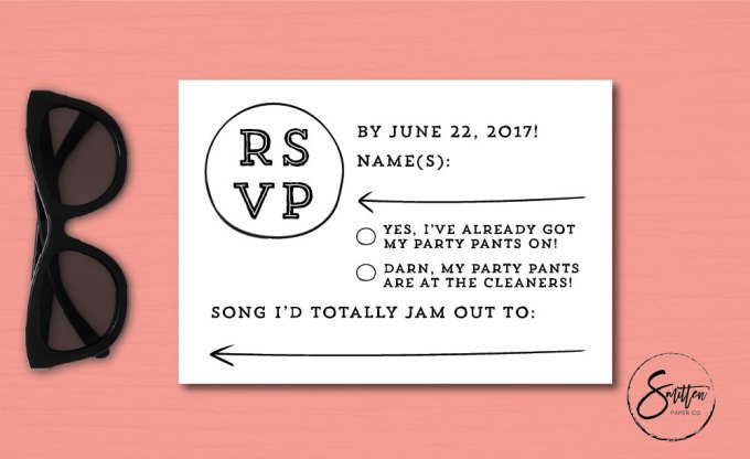 cute fun RSVP cards + via how to handle guests who don't rsvp