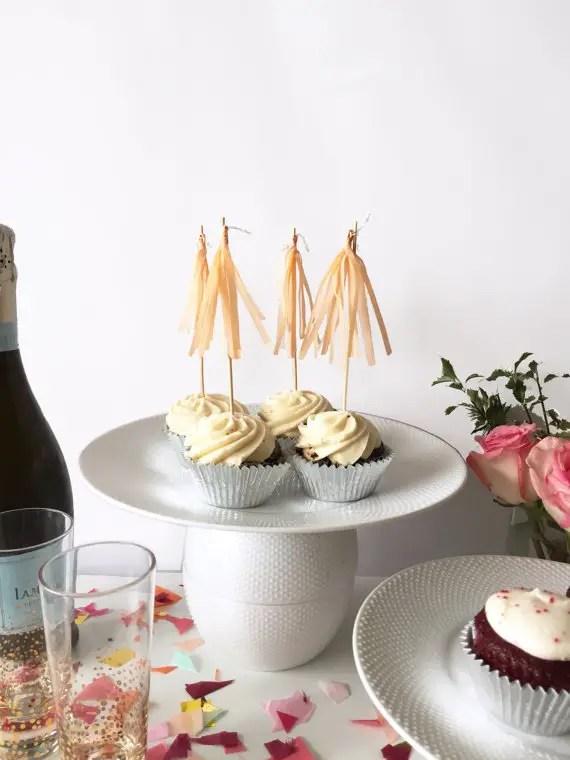 tassel cupcakes