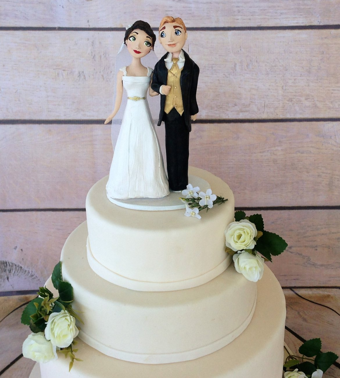 clay figurine wedding cake toppers