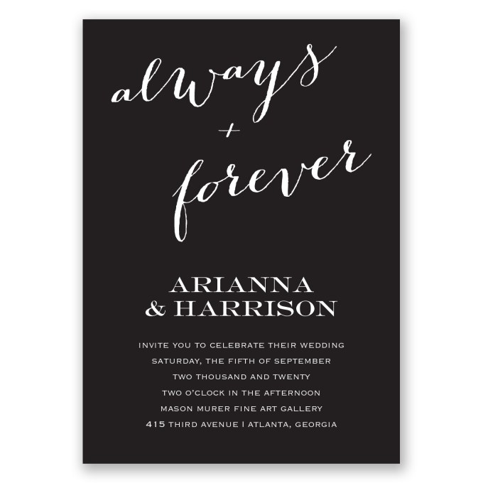 always and forever invites - where to buy affordable wedding invitations