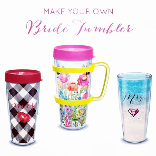 BRIDE TUMBLERS  Dazzling drinkware for days  Personalize yourhellip