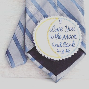 WEDDING TIP Sew this patch to the back of yourhellip