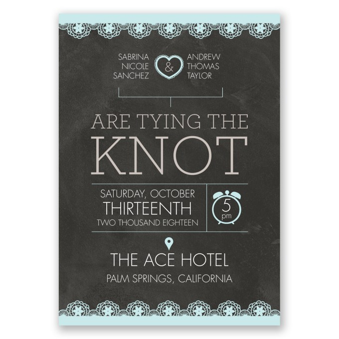 chalkboard wedding invites - where to buy affordable wedding invitations