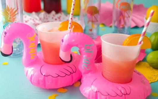 flamingo drink holders by HappyMailBtq