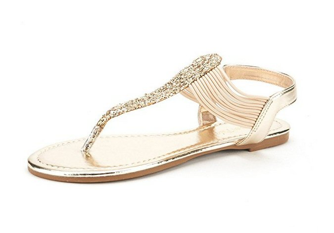 Gold Gladiator Sandals   Most Comfortable Wedding Shoes