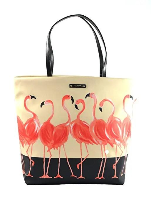 kate spade flamingo tote