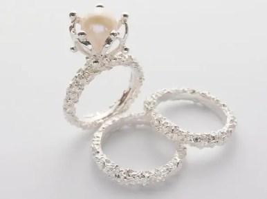 unique pearl engagement rings