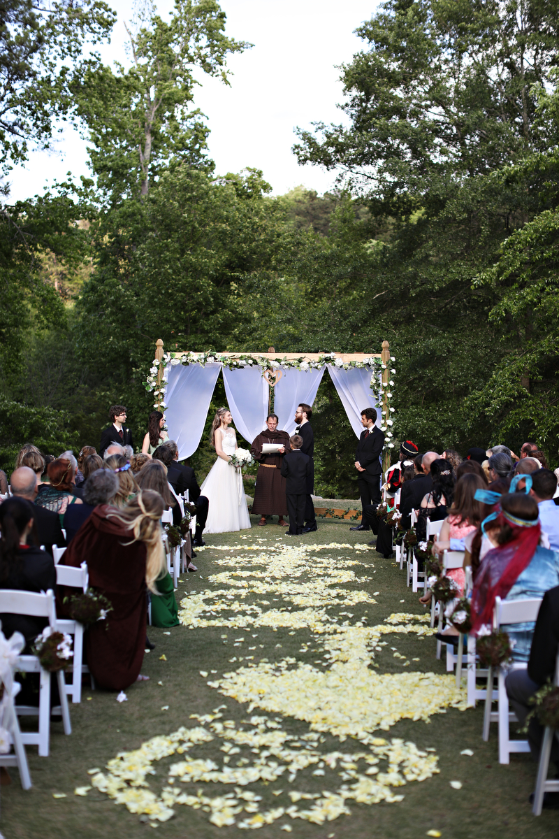 fairytale wedding - medieval fairytale wedding ideas | photo by melissa prosser photography