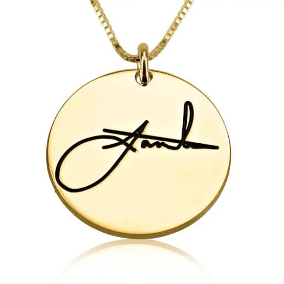 round signature necklace