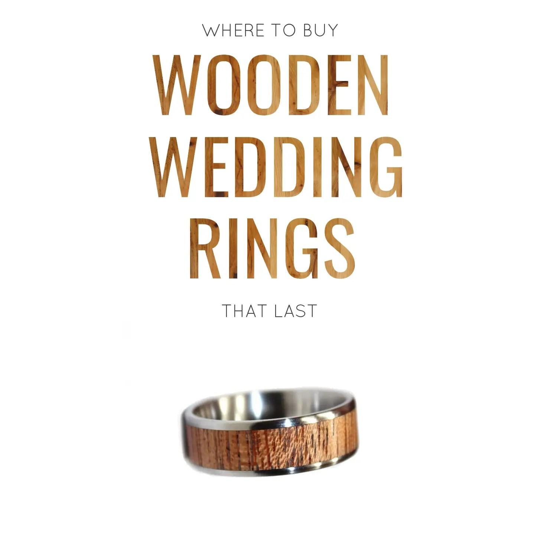wooden wedding rings where to buy wood wedding rings that last