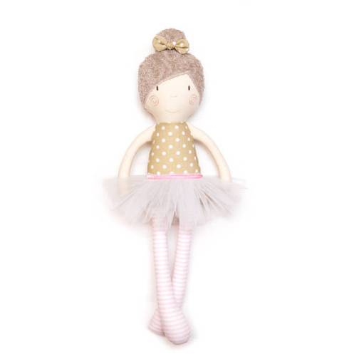 cute flower girl rag doll gift // via Does flower girl stand during ceremony? - Wedding Advice