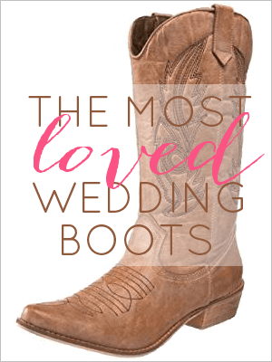 most loved wedding boots //  Nashville bachelorette party ideas