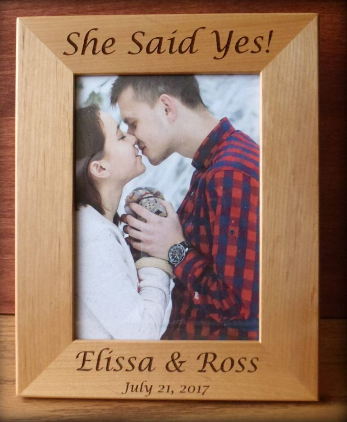 she said yes picture frame