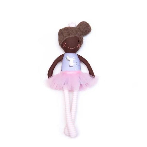 cute flower girl rag doll gift // via Does flower girl stand during ceremony? - Wedding Advice