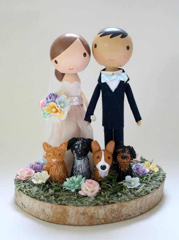 wedding cake topper two dogs wedding cake toppers with dogs emmaline 174 wedding 26645