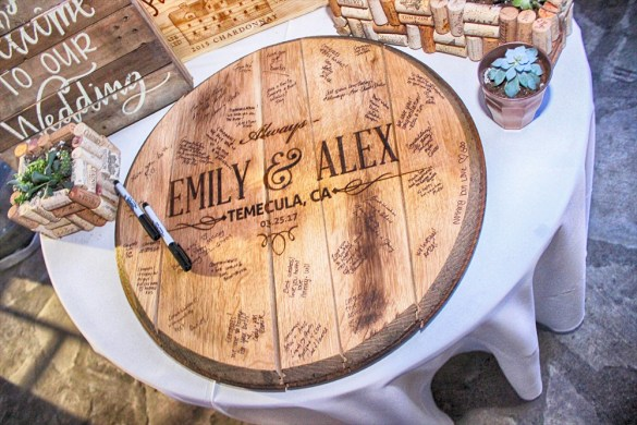whiskey barrel guest book