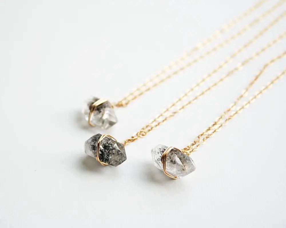 herkimer diamond necklaces