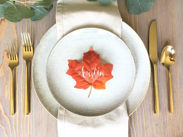 fall leaf place cards