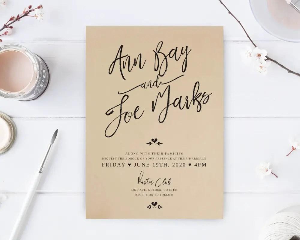 Lovely Cheap Wedding Invitations