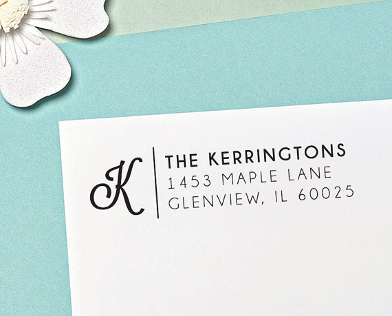 free return address stamp //giveaway by letter2love